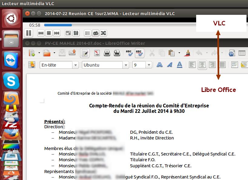 Redaction PV de réunion CE DP CHSCT